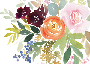 Fall Floral Watercolours 2017