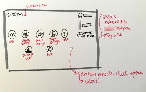 System menu wireframe (v1)
