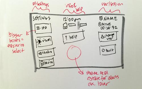 System menu wireframe (v2)