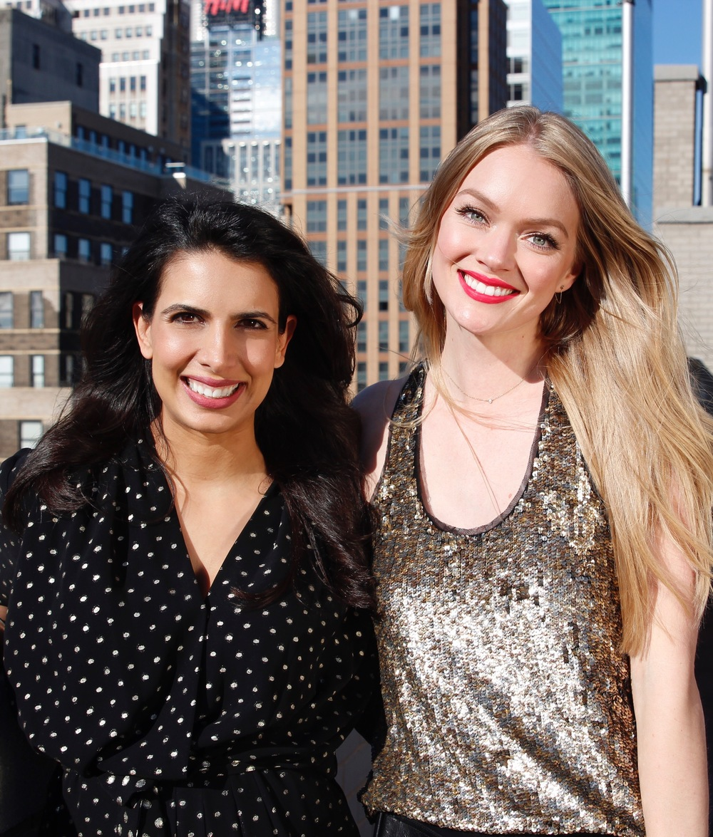 Let's go! Wander Beauty founders Divya Gugnani (left) and Lindsay Ellingson