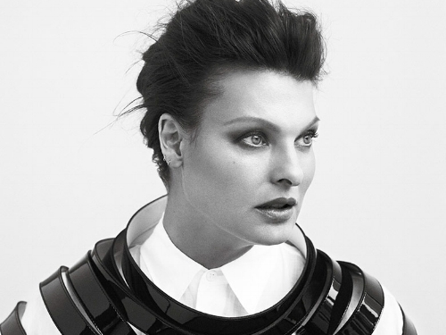 Linda Evangelista, shot by Bryan Adams for  Zoo  magazine in 2016