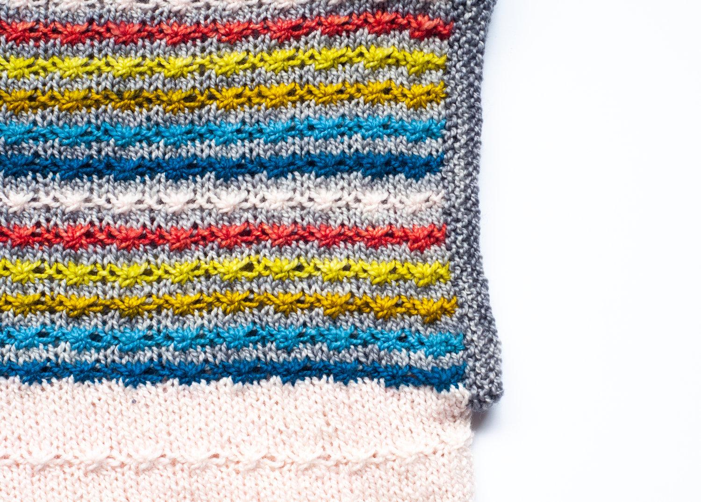 Daisy Stitch Using Knit Stitches Tellybeanknits