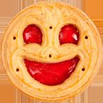 Pure joy, smile, fun, design joy, jammy dodger, face