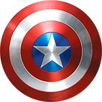 Captain America's shield - a symbol of integrity, bravery and heroism.