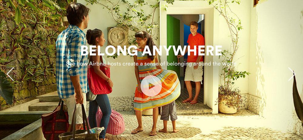 Airbnb's storytelling through brand.