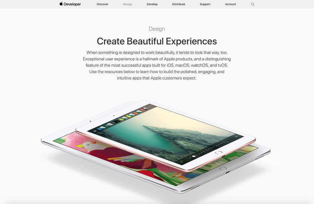 Apple experience design.