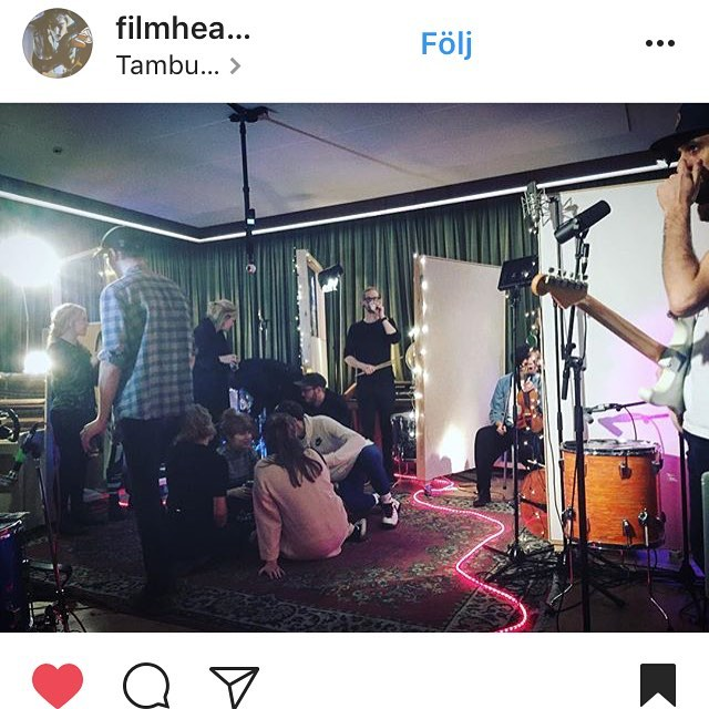 We had such an amazing time at @tambourinestudios yesterday! Thank you to everyone who came by and made it such a special evening. We're really looking forward to soon releasing the session in 360 degrees video & sound. So keep a lookout for updates on our instagram & facebook! picture by @filmheartmusic #hililihilo #tambourinestudios #boosthbg #commonfire