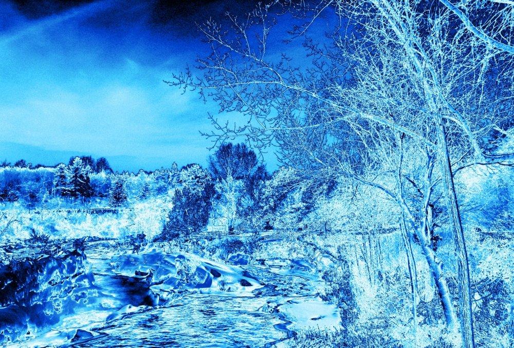 Metallic Blue Ice