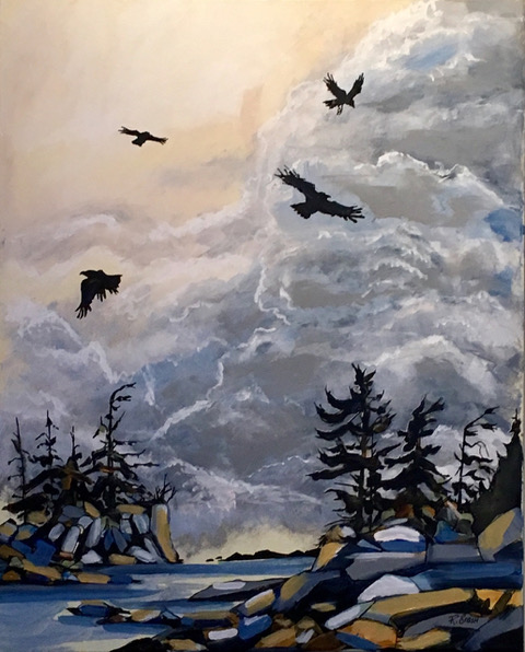 Soaring Crows