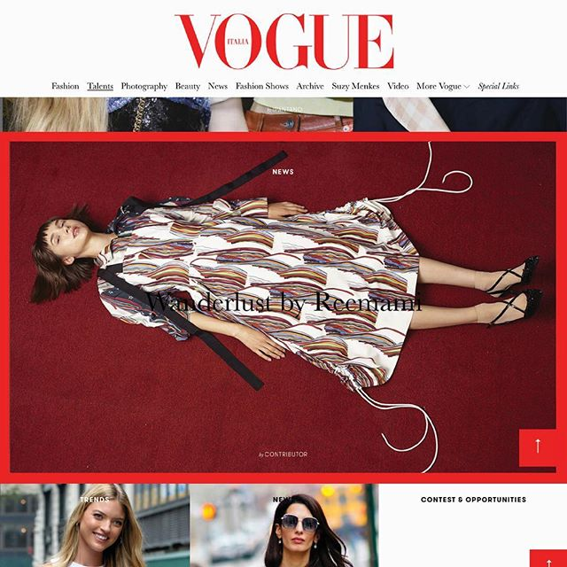 {ON A HIGH NOTE}: #Reemami featured on @vogueitalia by @fatkidforfashion🥁 #reemamiss18 #vogueitalia #italianvogue #milan #vogue #april12 #highnote #springsummer18 #campaign www.vogue.it