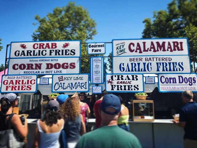 Have you found us yet?! We're cookin up some delicious food at the Gilroy Garlic Festival! 🦀🍟🦑 #gilroygarlicfestival #garlicfries #crabfries #garlicfries #corndogs #gourmetfaire #vendors #yummy #bayarea #festivalseason #2018 #musicfestival #foodgasm #foodie #foodporn #picoftheday #streetfood