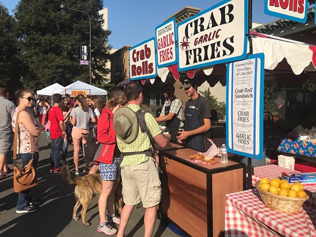 We'll see you for another summer of the Santa Rosa Wednesday Night Market. Opening on May 1st. #gourmetfaire #crabgarlicfries #crabfries #