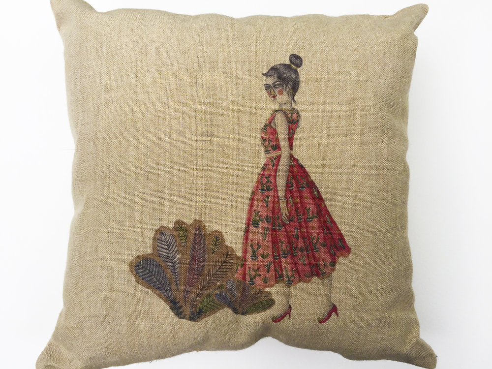 Lady in Desert Cushion.jpg