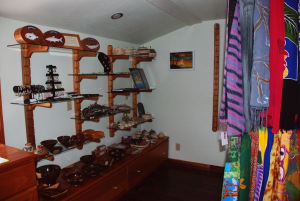 Gift Shop at Turneffe Flats saltwater fishing resort on Turneffe Atoll in Belize.