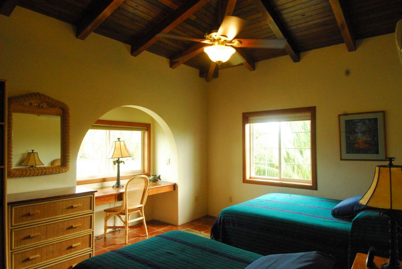 bright guest rooms enjoyed after scuba diving the Blue Hole