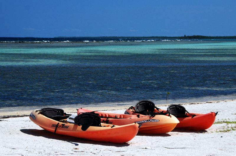 Sit-on-top Sea Kayaks at Turneffe Flats