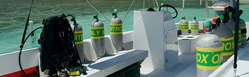 Nitrox scuba diving is available at Turneffe Flats.