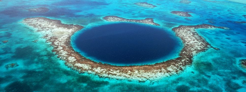 Blue Hole in Belize is a SCUBA diving bucket list location.