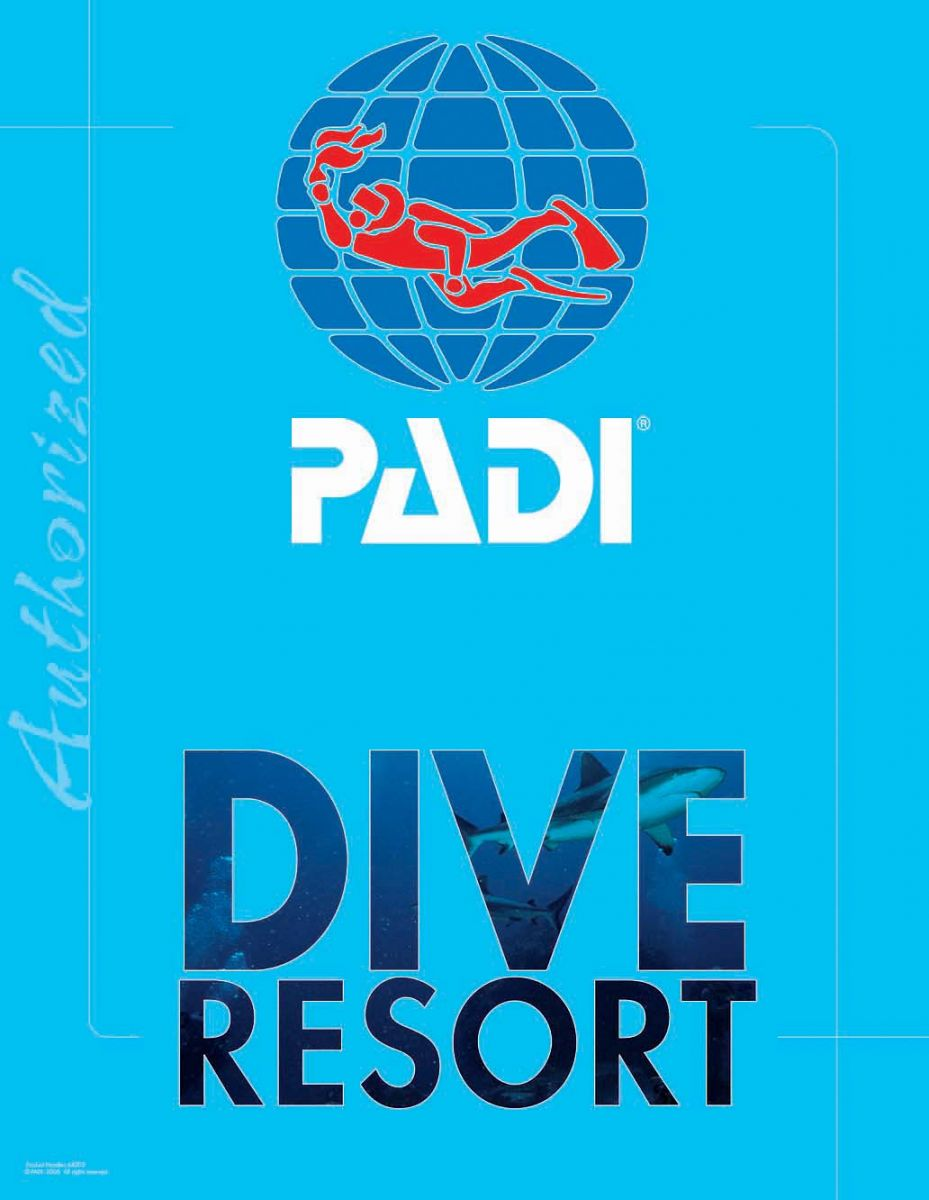 PADI certified SCUBA diving resort.
