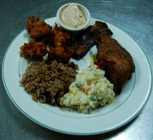 Belizean chicken recipe at this scuba diving lodge