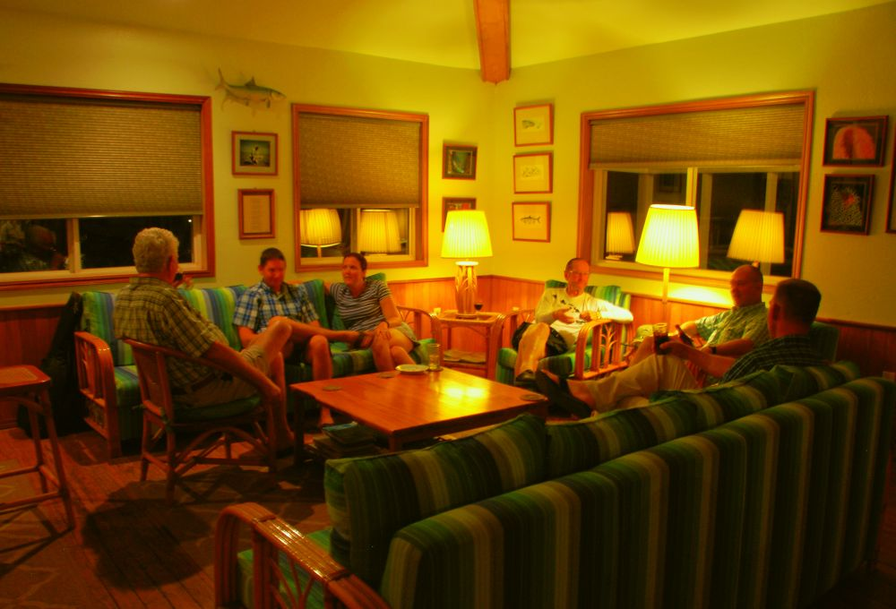 Belize fishing lodge, telling stories of fishing for permit