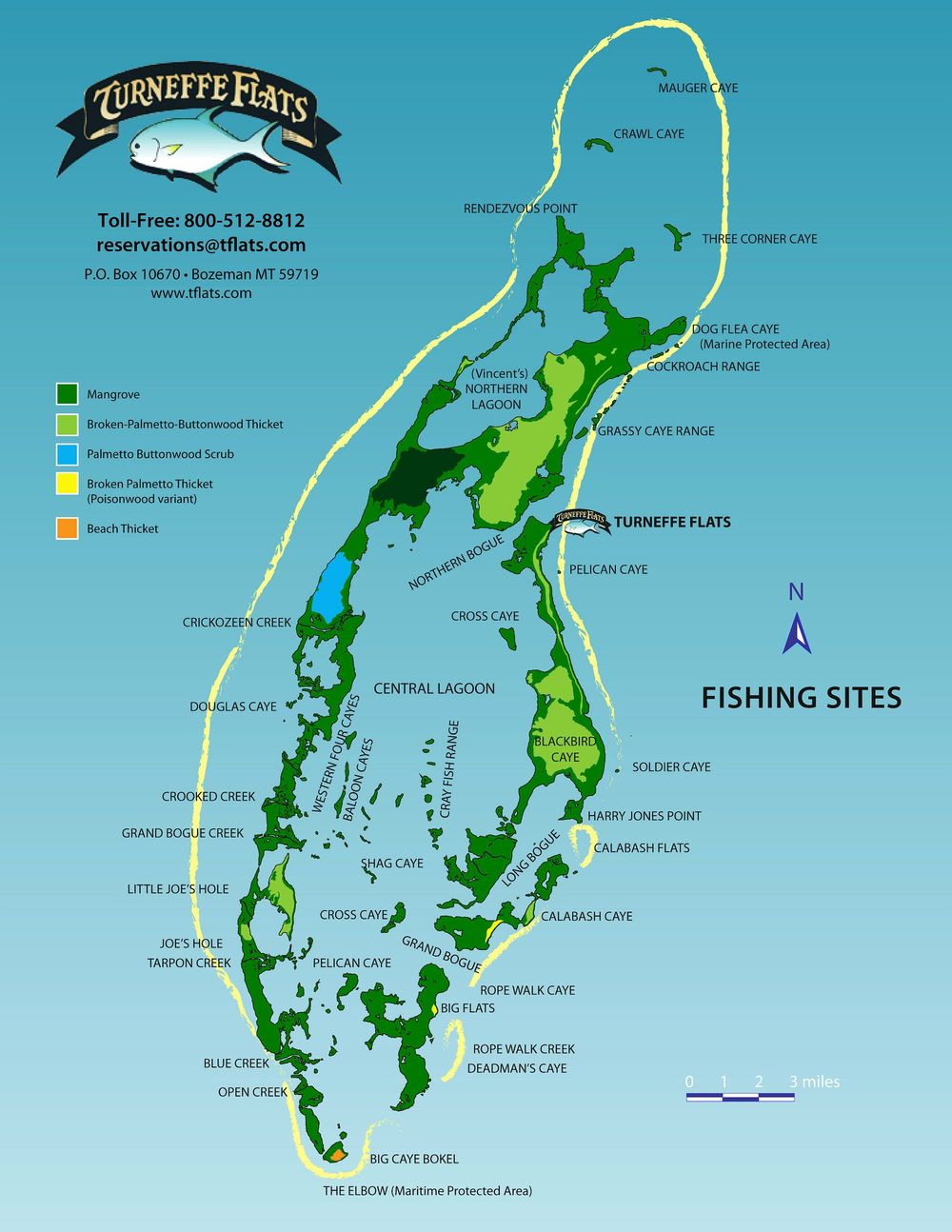 The best bonefish, permit, and tarpon fishing locations in Belize.