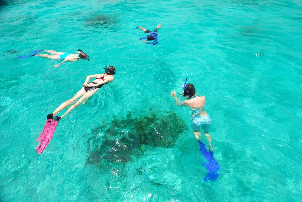 Belize snorkeling adventure vacations on Turneffe Atoll