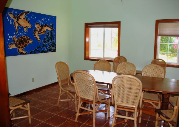 conference area in Belize at Turneffe Flats