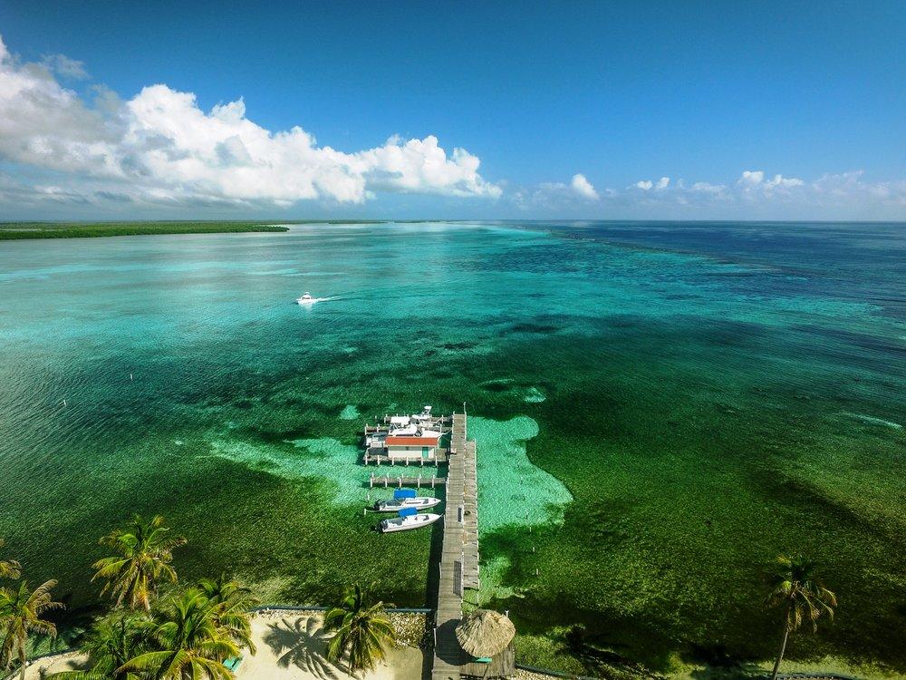 Scuba divers at Turneffe Atoll.