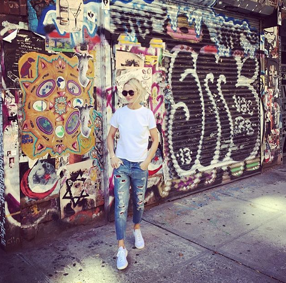 Zanna Roberts Rassi in the Chelsea Art District, New York City