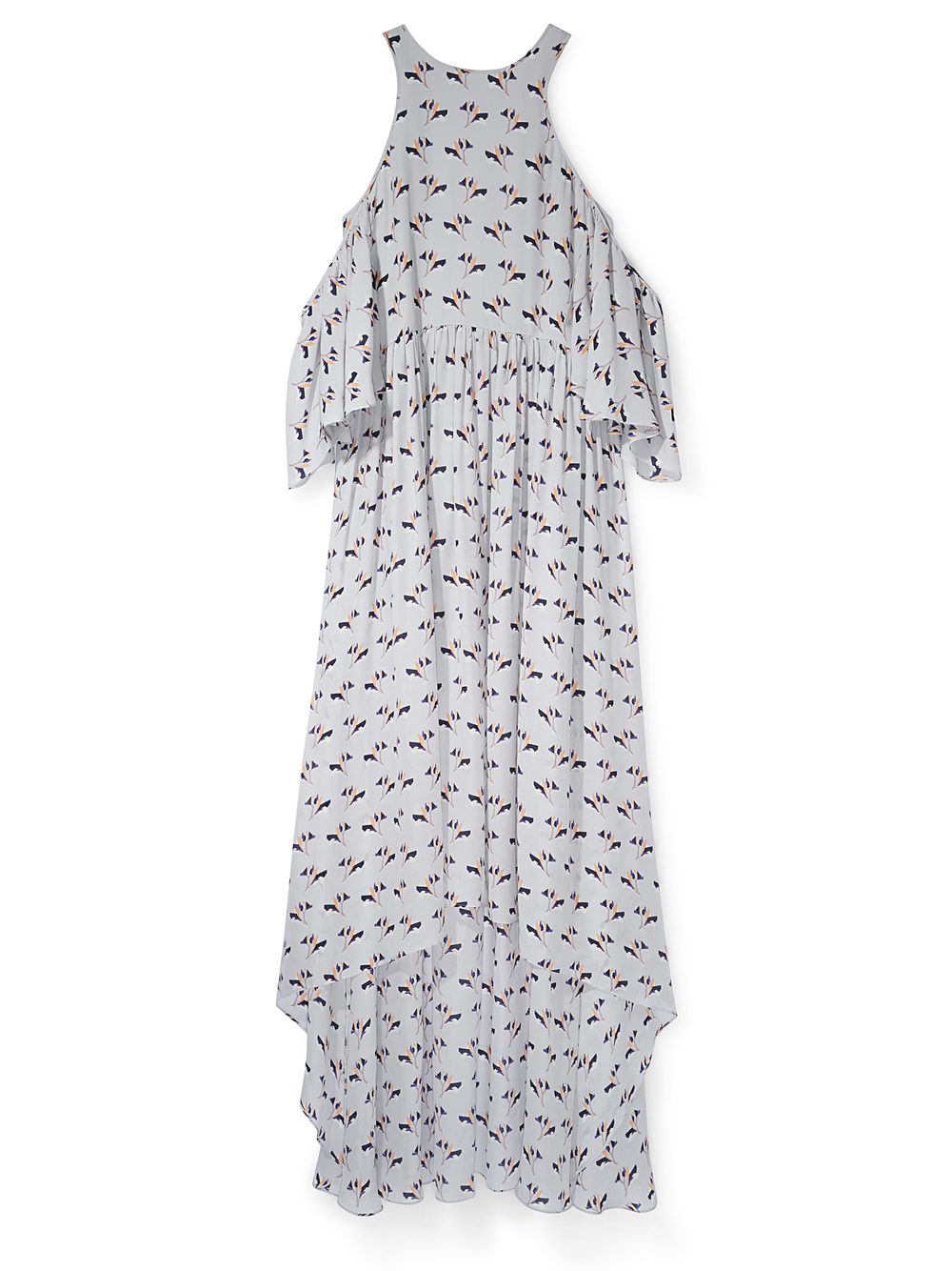 Go for glam with a floral maxi dress with cold shoulders. It's so easy to throw on and is bound to turn heads! Style it out with a pair of flats or clean white sneakers depending on your mood. Rebecca Minkoff 'Mindy' Dress