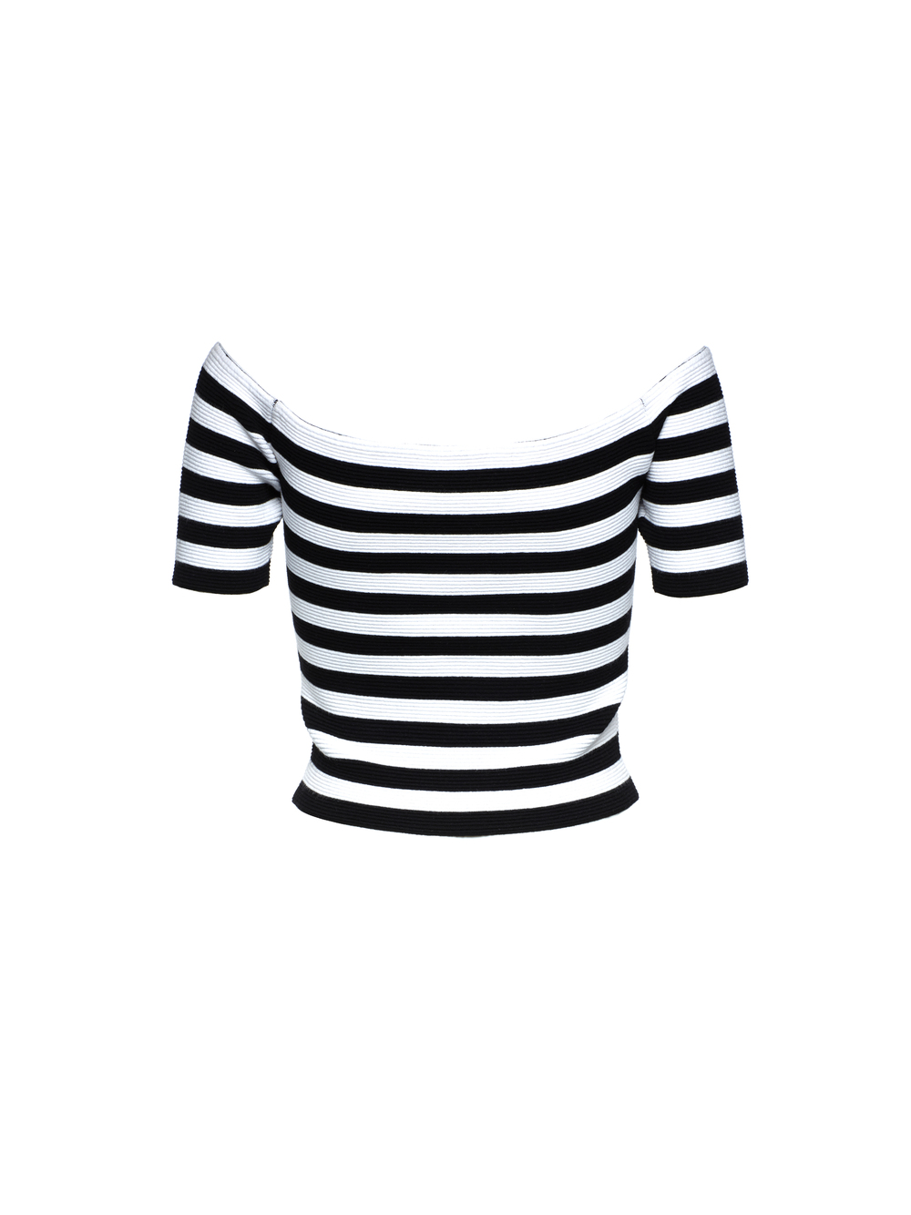 If you'd prefer something more form fitting, try a striped off the shoulder top. Dress it down with a pair of denim shorts or dress it up with a flowing mid-length skirt and heels. This look nails the nautical trend, which has also been a huge hit on the runways this season. Alice + Olivia 'Grant' Off the Shoulder Top