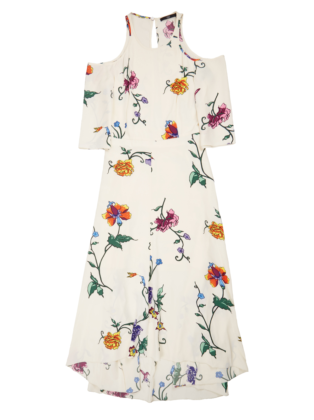 This style is gorgeous against bronzed skin and tousled beach hair and is perfect for a night out on the town. Style it out with a pair of open-toe sandals or nude heels. Tibi 'Bella' Floral Cut out Dress