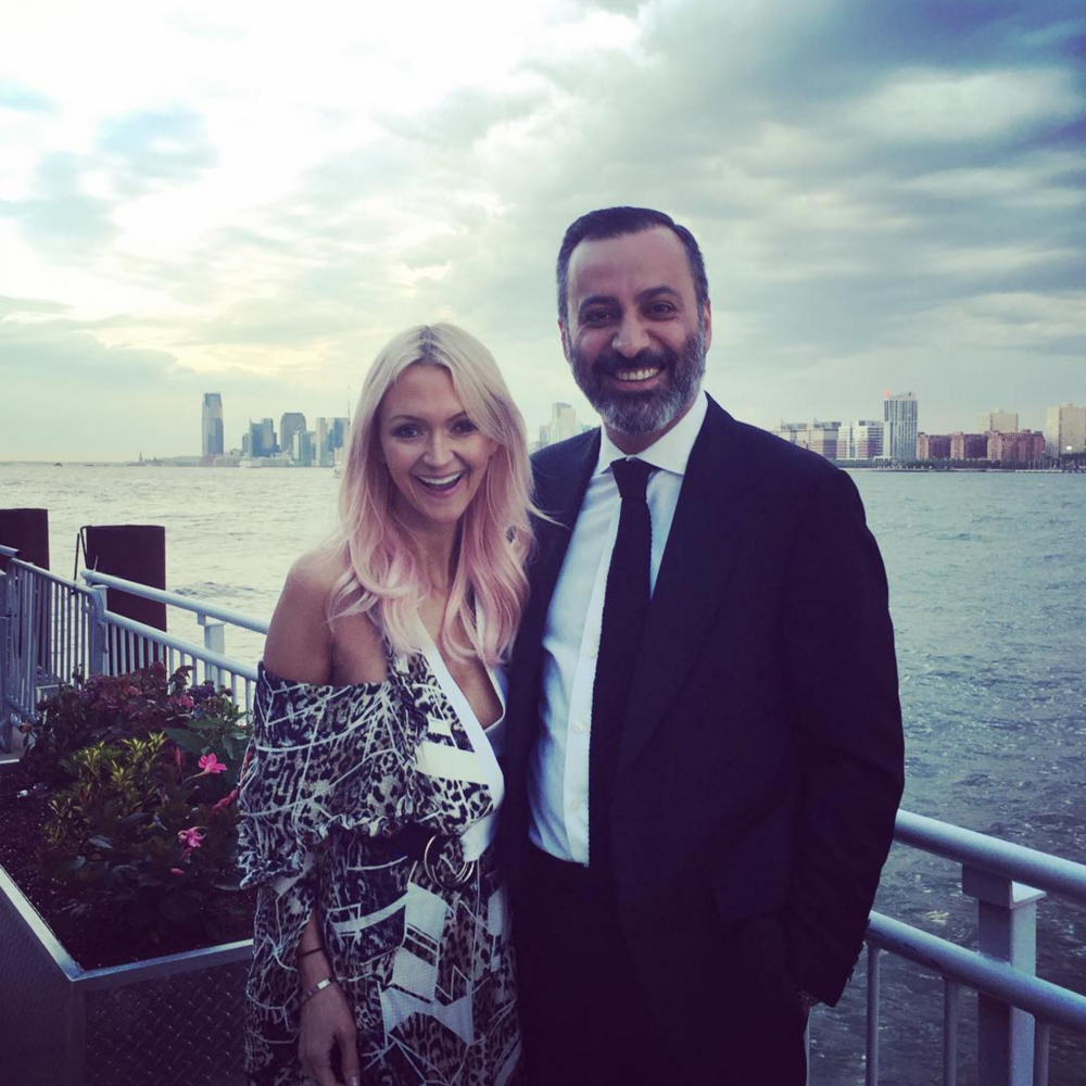 Taking in the Hudson view with my Husband before the Parson's benefit in NYC.