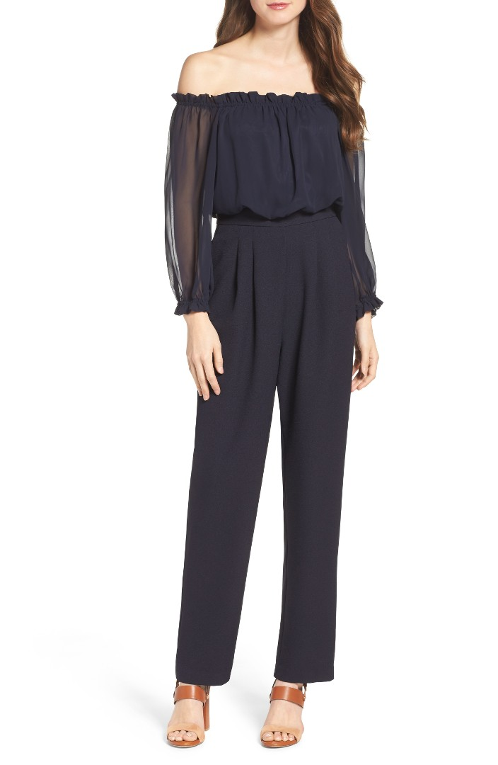 Off The Shoulder Jump Suit