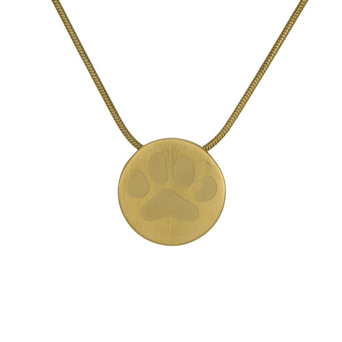 Large paw print pendant necklace the animal soul large paw print pendant necklace aloadofball Images