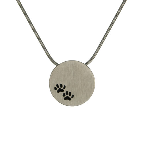 Small paw print pendant necklace the animal soul small paw print pendant necklace aloadofball Images