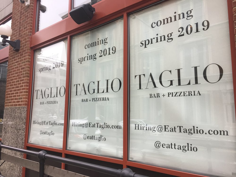 Taglio is expanding into OTR Spring 2019!