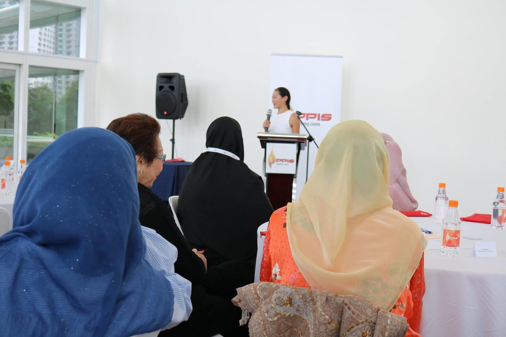 3/17 Delivering talk to Muslim Women in Singapore for International Women's Day 2017.