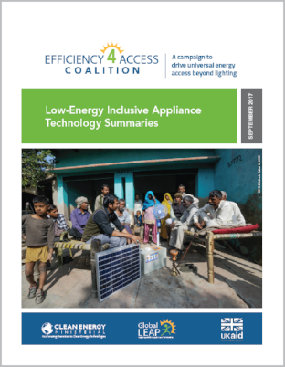 Low-Energy Inclusive Appliance Technology Summaries