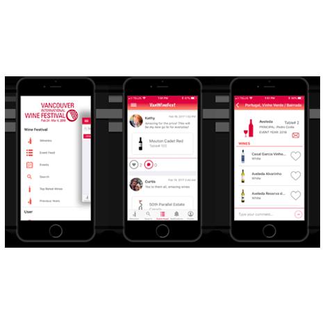 Vancouver International Wine Festival mobile app mockups by FreshWorks