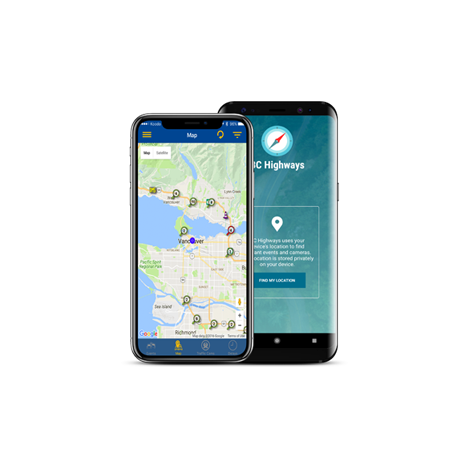 BCHighways Mobile Application mockups by FreshWorks