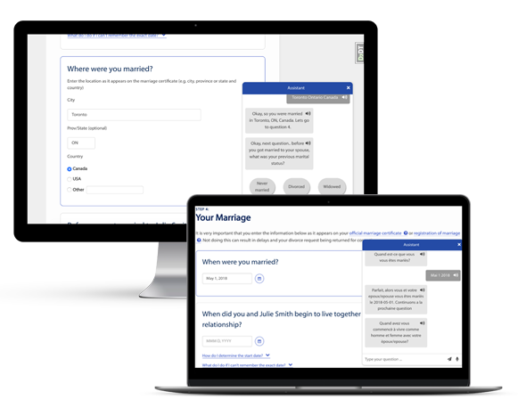 Ministry of Justice Chatbot powered by IBM Watson mockup by FreshWorks Studio