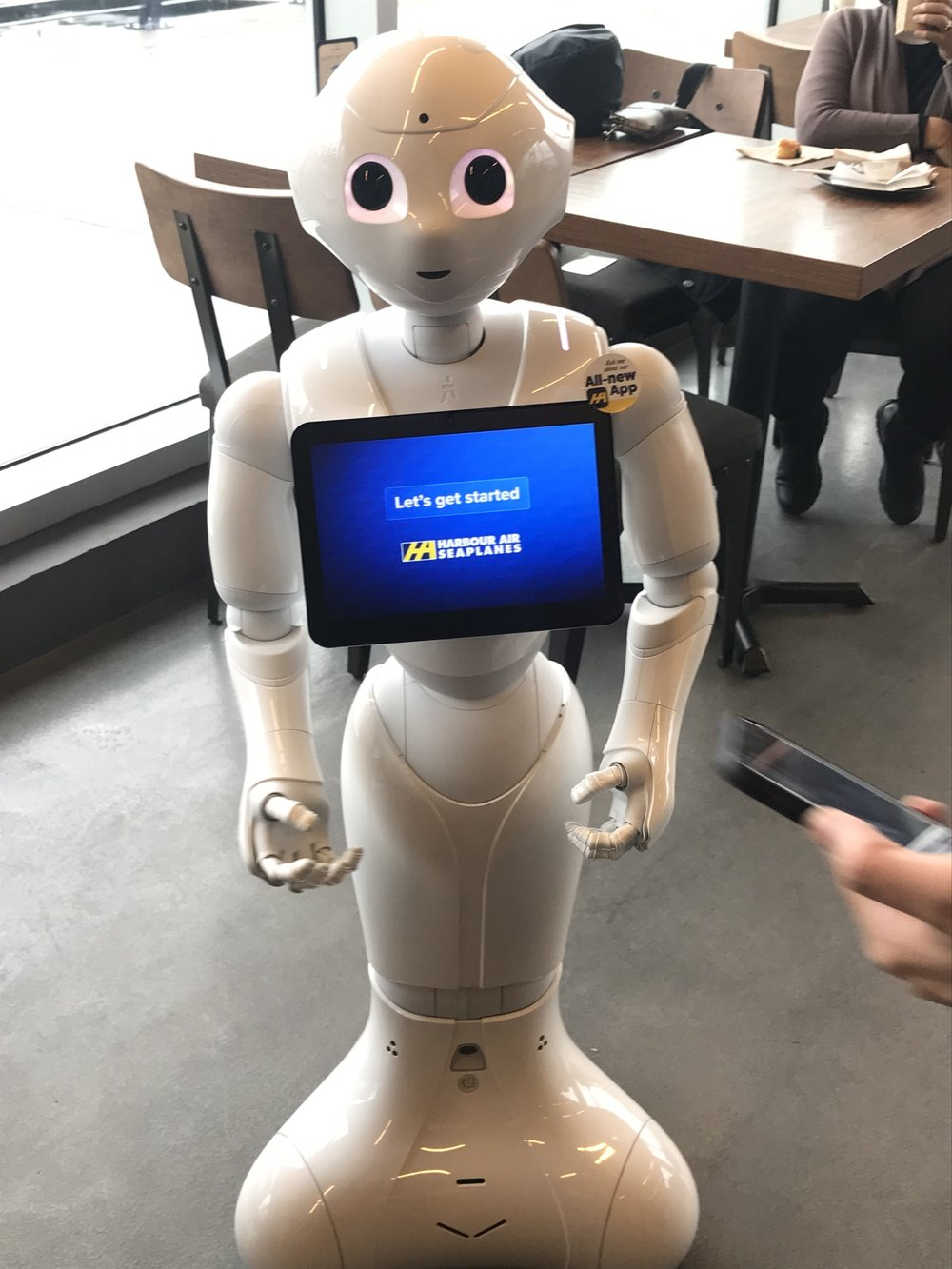 Harbour Air robot Pepper
