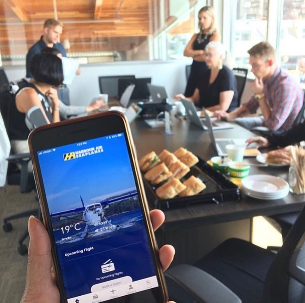 Focus groups were used as part of our recent project with Harbour Air.