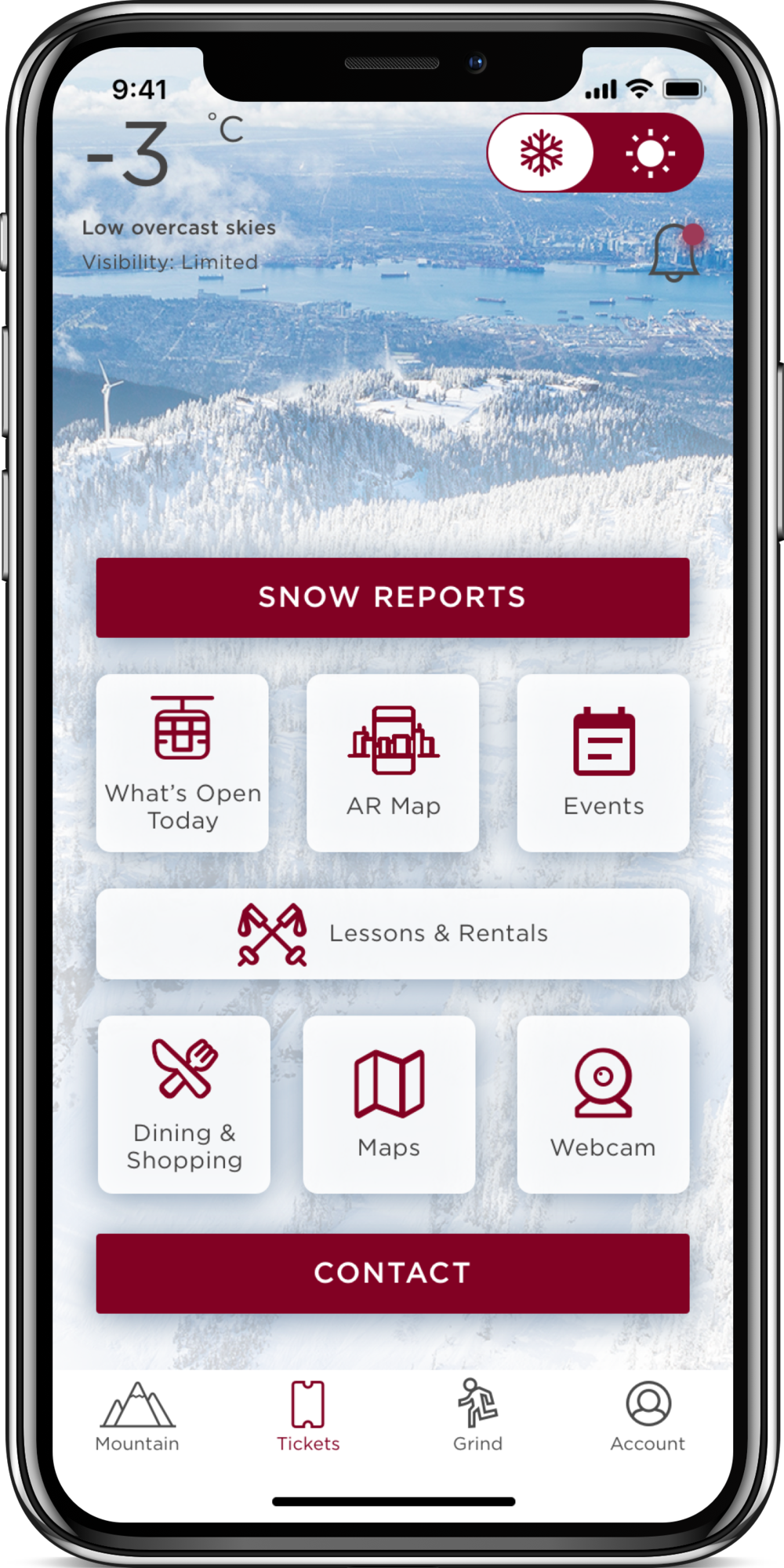 Grouse Mountain iOS Application