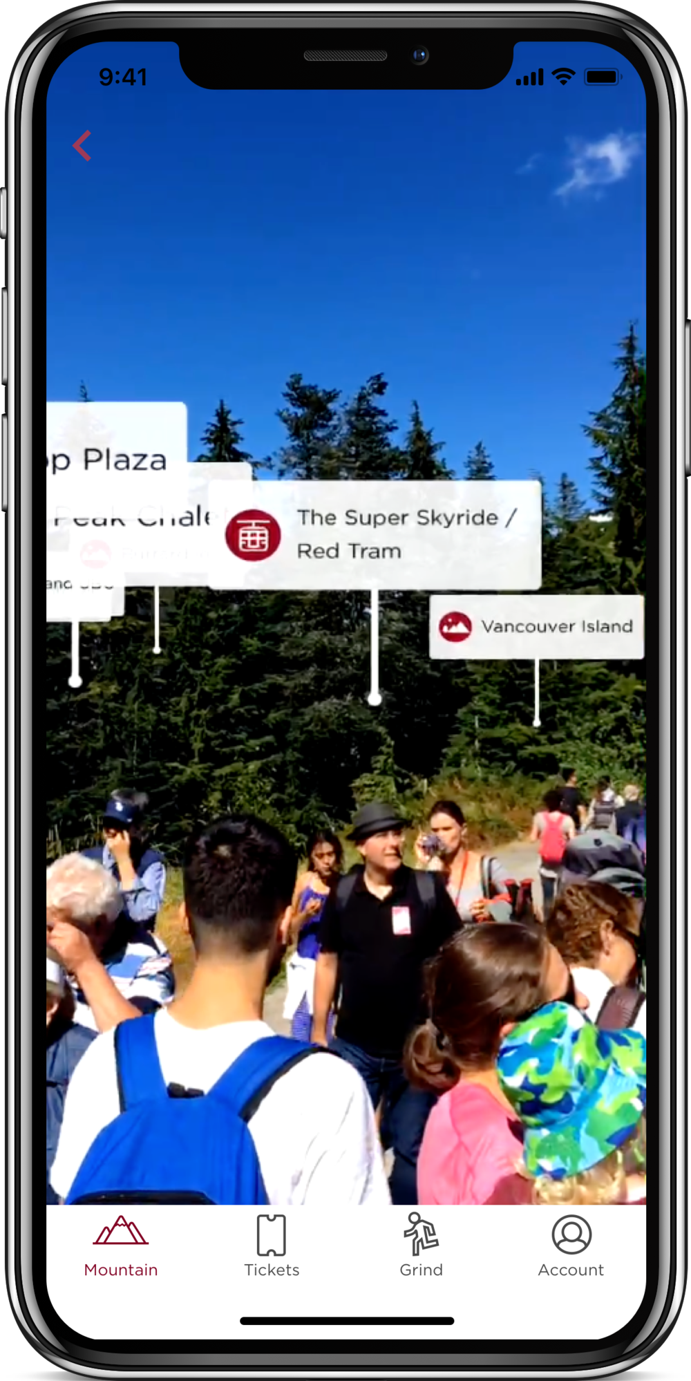 Augmented Reality at Grouse Mountain Resort