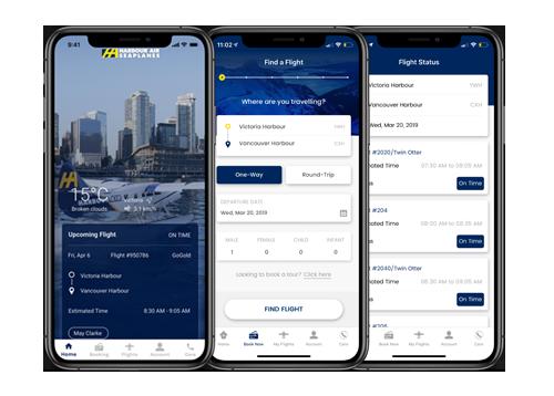 Harbour Air mobile app development by FreshWorks Studio