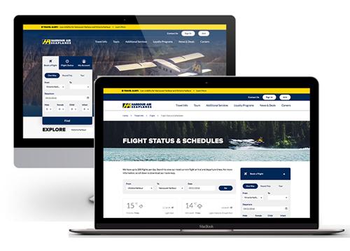 Harbour Air website development by FreshWorks Studio
