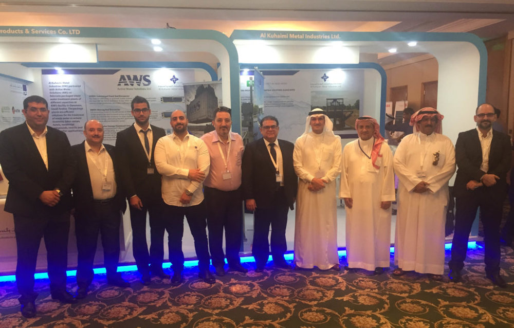 The TPS team represents Active Water Solutions  at Sustainability Week in Abu Dhabi.